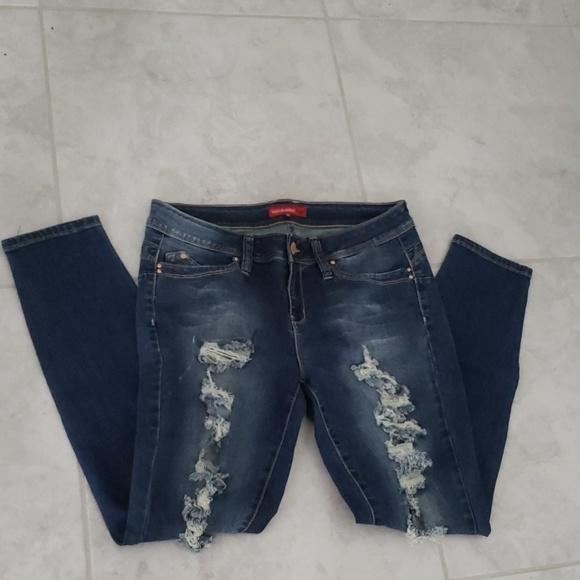 YMI Denim - YMi destructed skinny jeans  NWOT 13